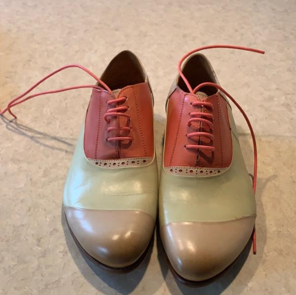 Brand new, never worn Fluevogs! Salmon, Cream, & Beige 7