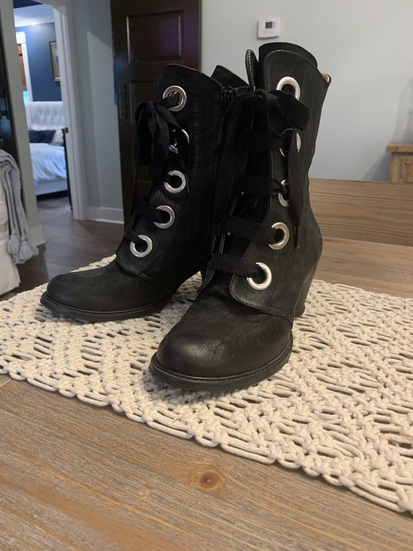 East end Gladstone's mid calf lace up boot Black 9
