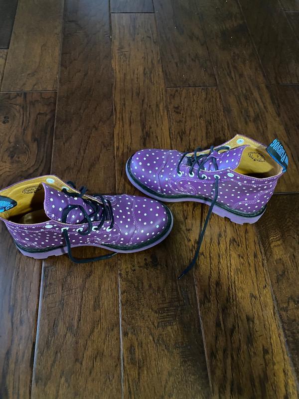 7th Heaven Derby Swirl (5 Eye) purple polka dots 8 1/2