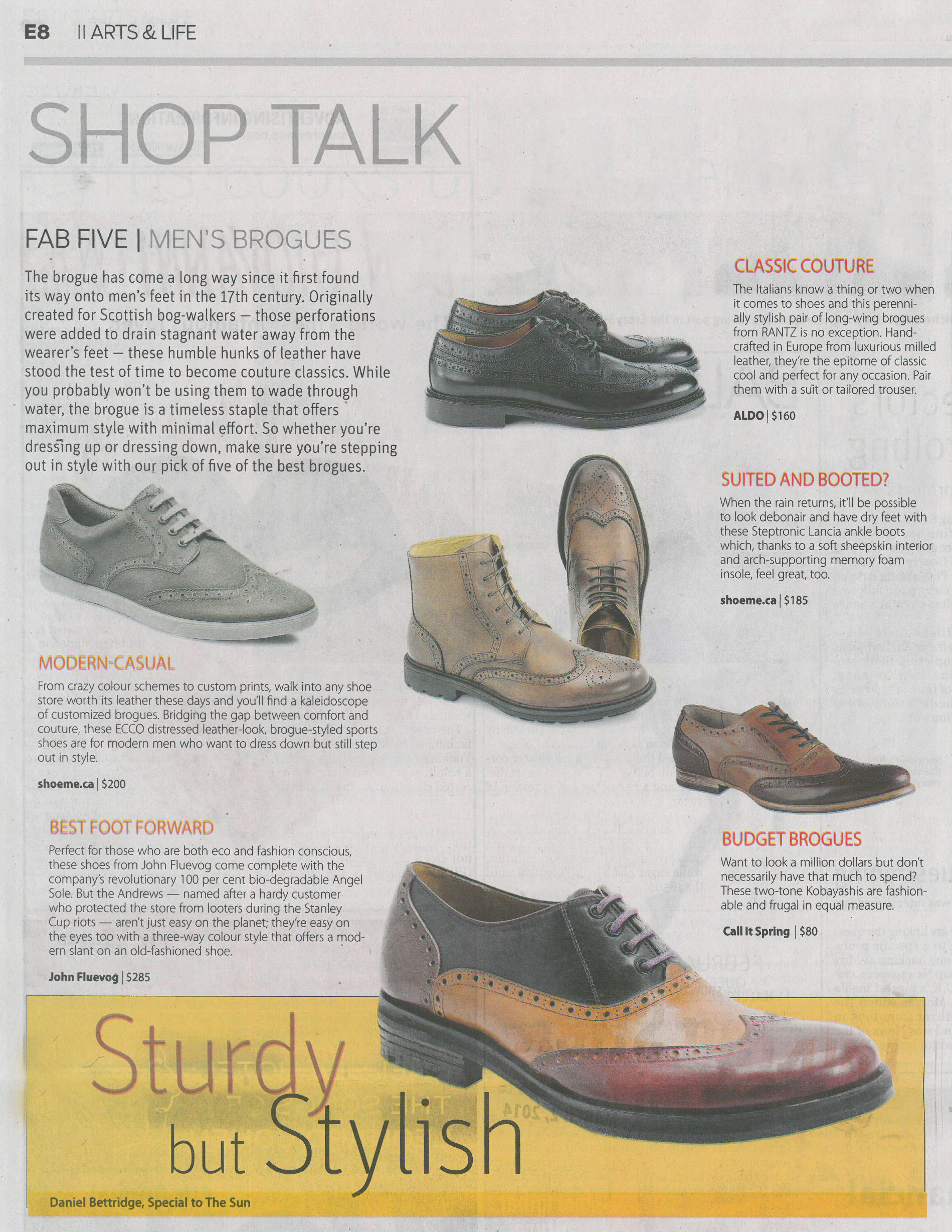 John Fluevog Shoes features in The Vancouver Sun