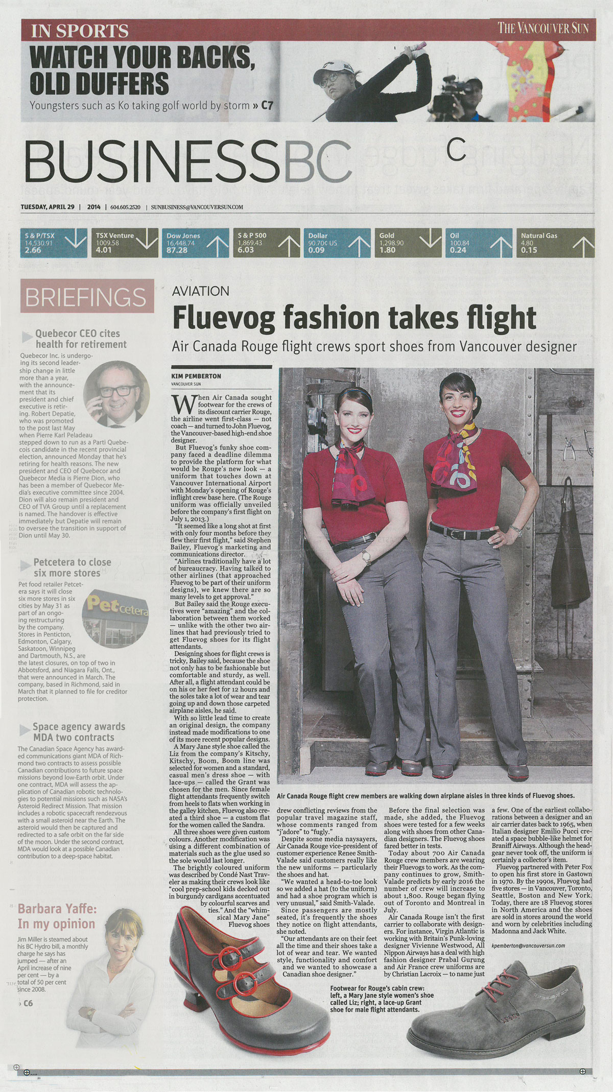 John Fluevog Shoes in the Vancouver Sun