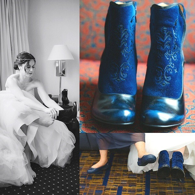 Sarah and Mike said 'I do' while each sporting a pair of their favo(u)rite Vogs. Congratulations you two! Here's Sarah pullin…
