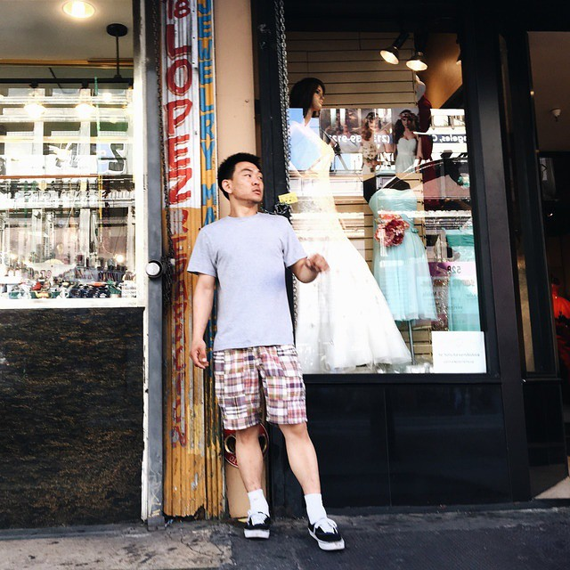 """Downtown in the historic district, a man raps as he waits in front of a dress shop."" @americanobscura for @streetvogs"