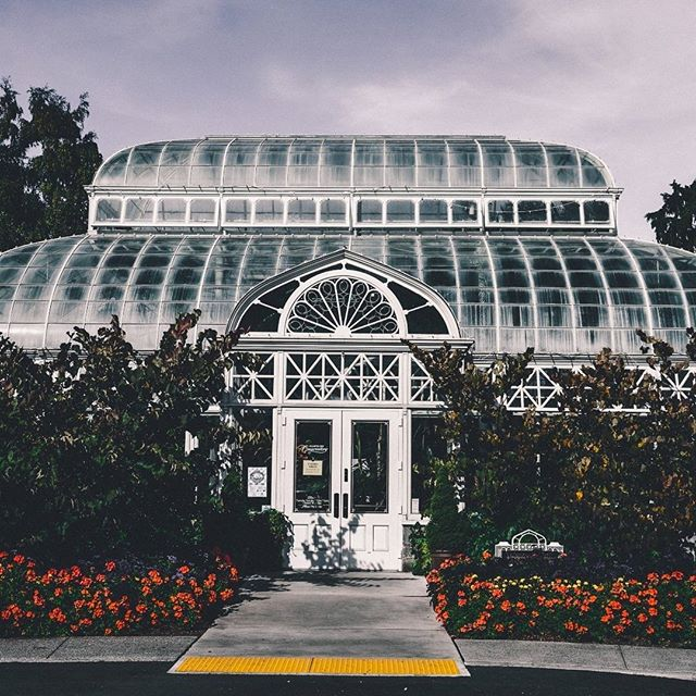 """Another shot from Capitol Hill's Volunteer Park, this beautiful green house is modeled after London's Crystal Palace. Defini…"
