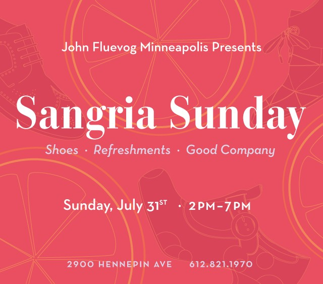 Sangria Sunday at Fluevog Minneapolis