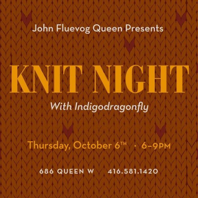 Autumn Knit Night at 686 Queen