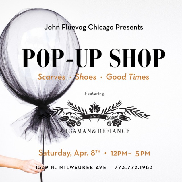 Argaman&Defiance Pop-up Shop in Chicago!