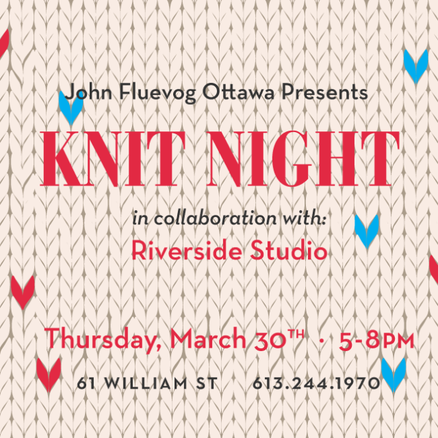 Knit Night in Ottawa ft. Riverside Studio