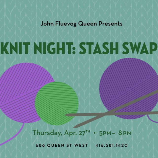 Knit Night: Stash Swap at Fluevog Queen