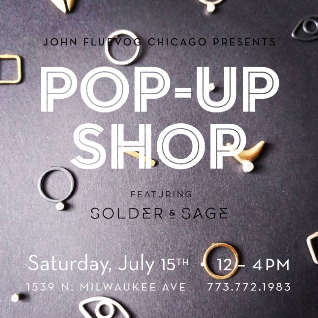 Solder & Sage Pop-up Shop in Chicago