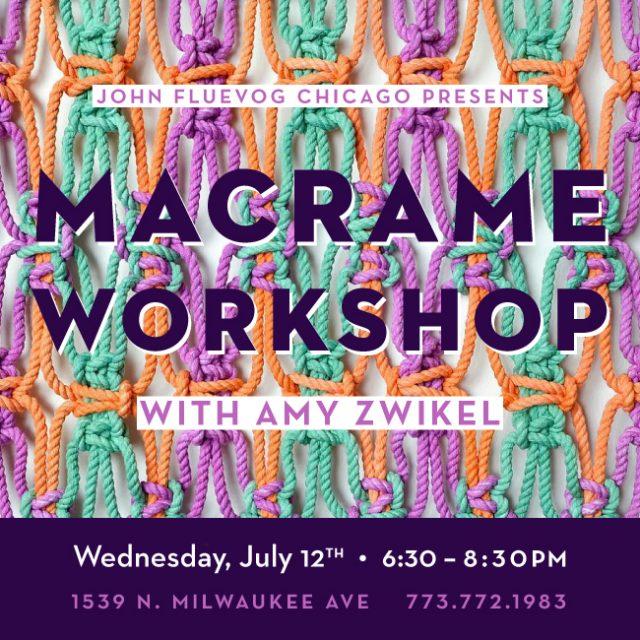 Amy Zwikel Macrame Workshop in Chicago