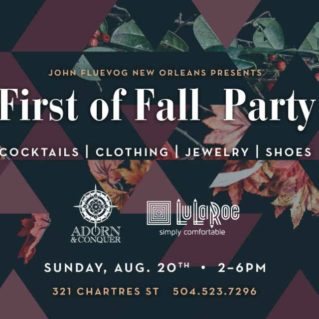 First of Fall Party in New Orleans!