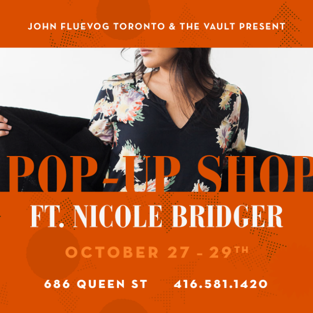 Nicole Bridger Pop-up Shop in Toronto