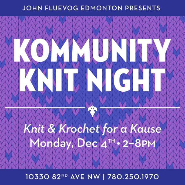 Kommunity Knit Night in Edmonton!