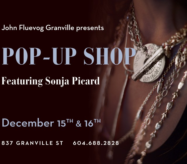 Sonja Picard Pop-up Shop in Vancouver!