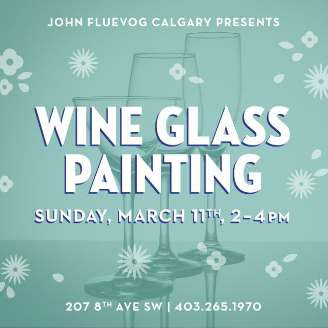 Spring Wine Glass Painting in Calgary!