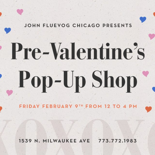 Pre-Valentine's Pop-up Shop in Chicago!