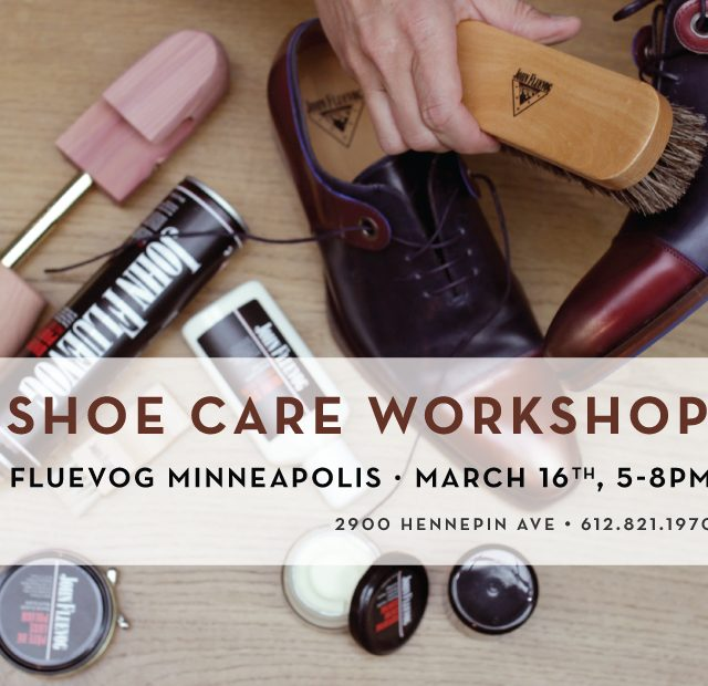 Shoe Care Workshop in Minneapolis