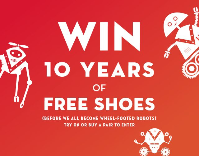 Enter to WIN 10 YEARS OF FREE SHOES!