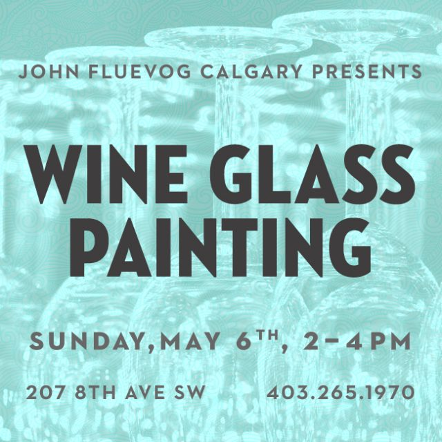 Paint your own Wine Glass in Calgary!