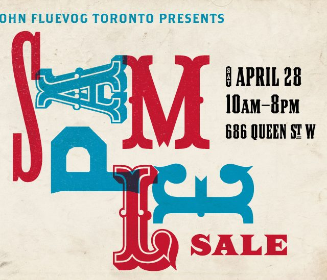 Fluevog Sample Sale in Toronto April 28!