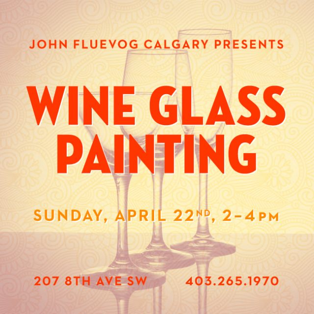 Wine Glass Painting in Calgary!