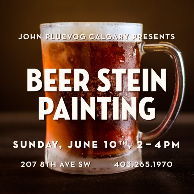 Father's Day Beer Stein Painting in Calgary!