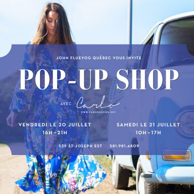 Pop-up Shop with Carlo in Québec