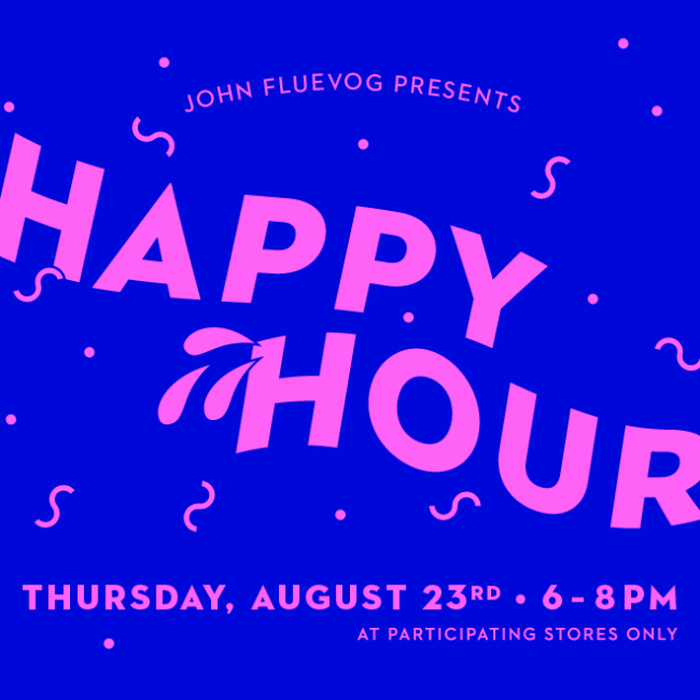Fluevog Happy Hour – August 23rd!