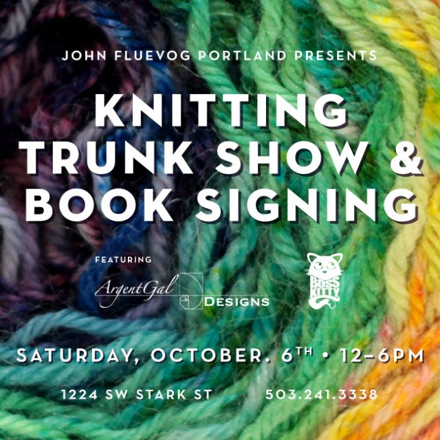 Knitting Trunk Show & Book Signing in Portland!