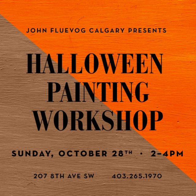 Halloween Painting Workshop in Calgary!