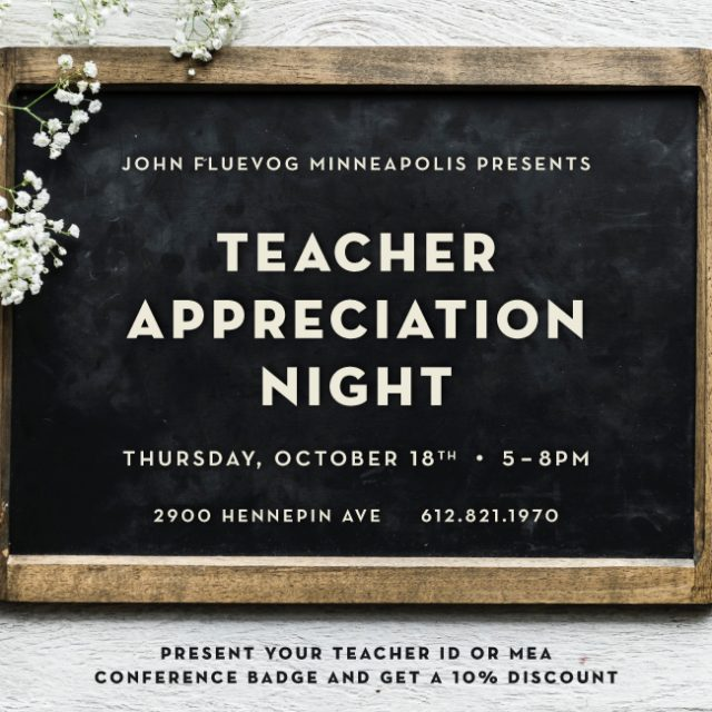 Teacher Appreciation Night in Minneapolis!
