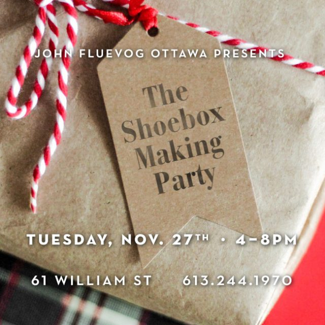 Shoebox-Making Party in Ottawa!