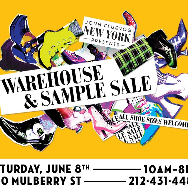 Fluevog Warehouse and Sample Sale in NYC