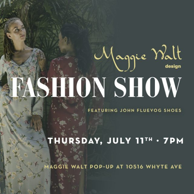 Maggie Walt Design Fashion Show in Edmonton!
