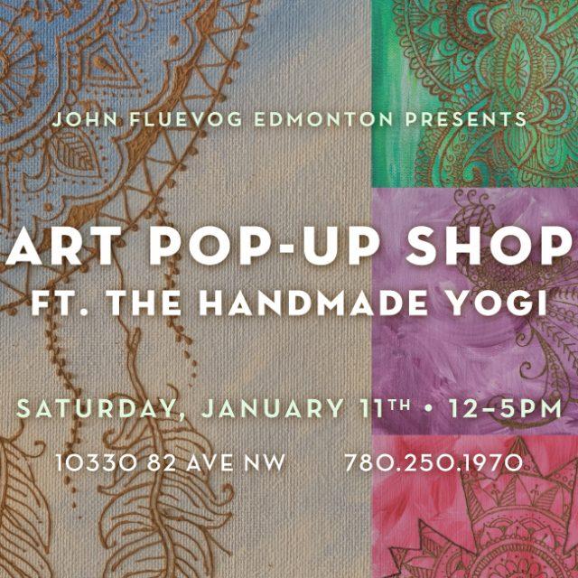The Handmade Yogi Art Pop-up Shop in Edmonton!